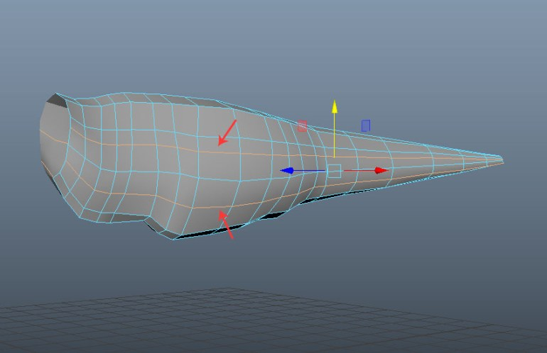 Insert two more horizontal edge loops