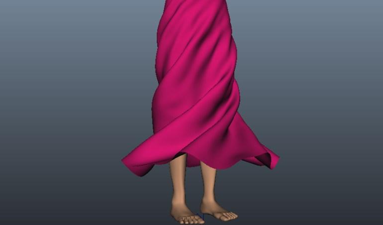 Skirt simulation