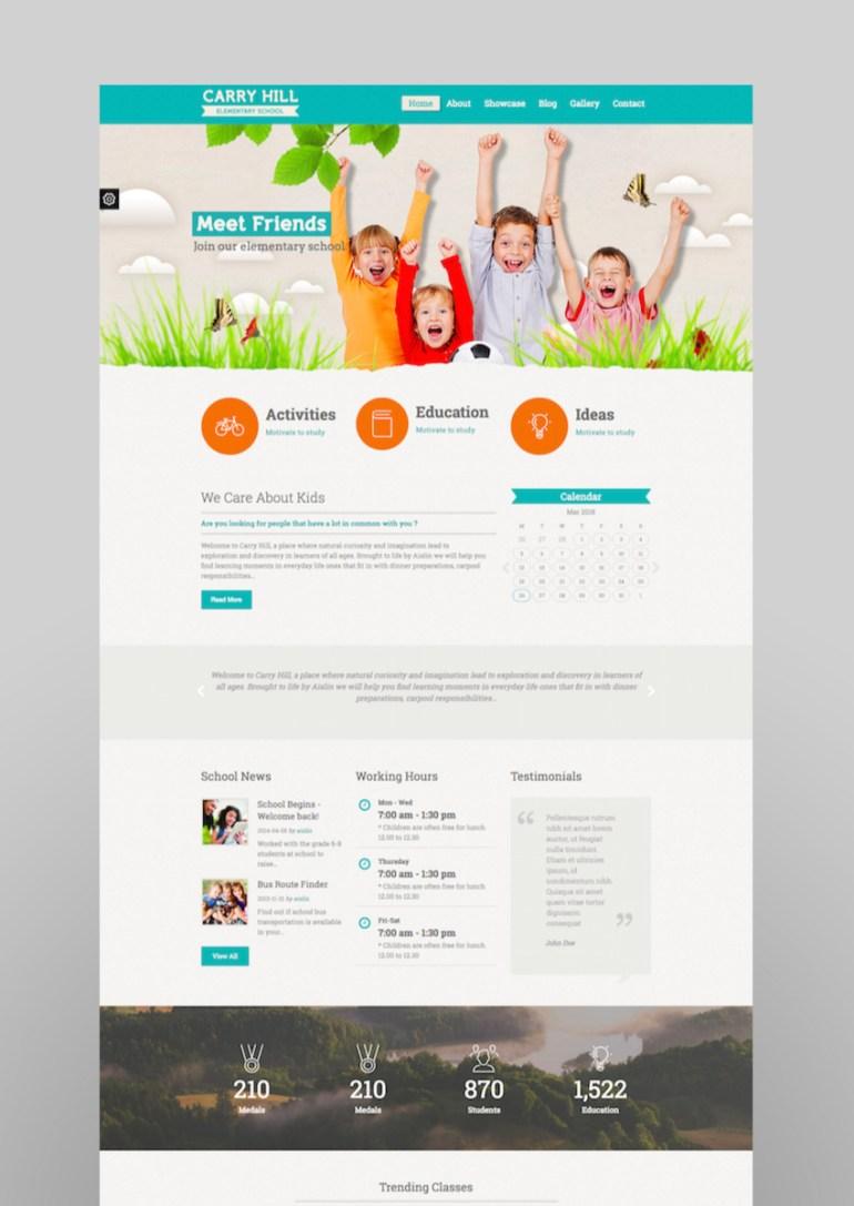 Carry Hill School - Responsive WordPress Theme