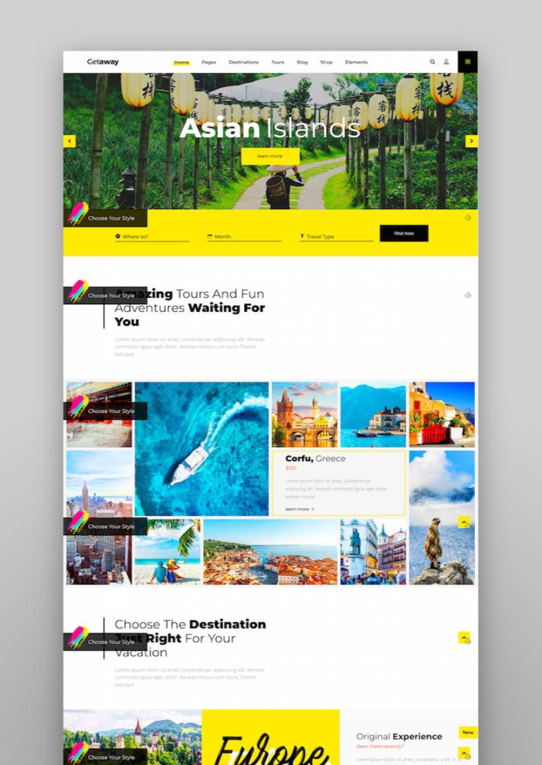 Getaway - An Upbeat Travel and Tourism Theme