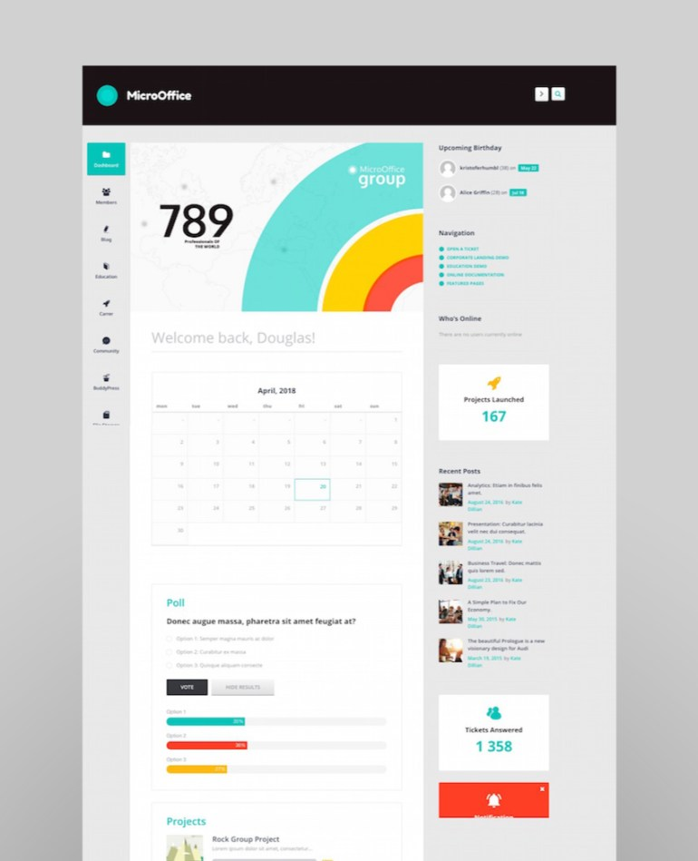 Micro Office  Intranet and ExtranetWordPress Theme