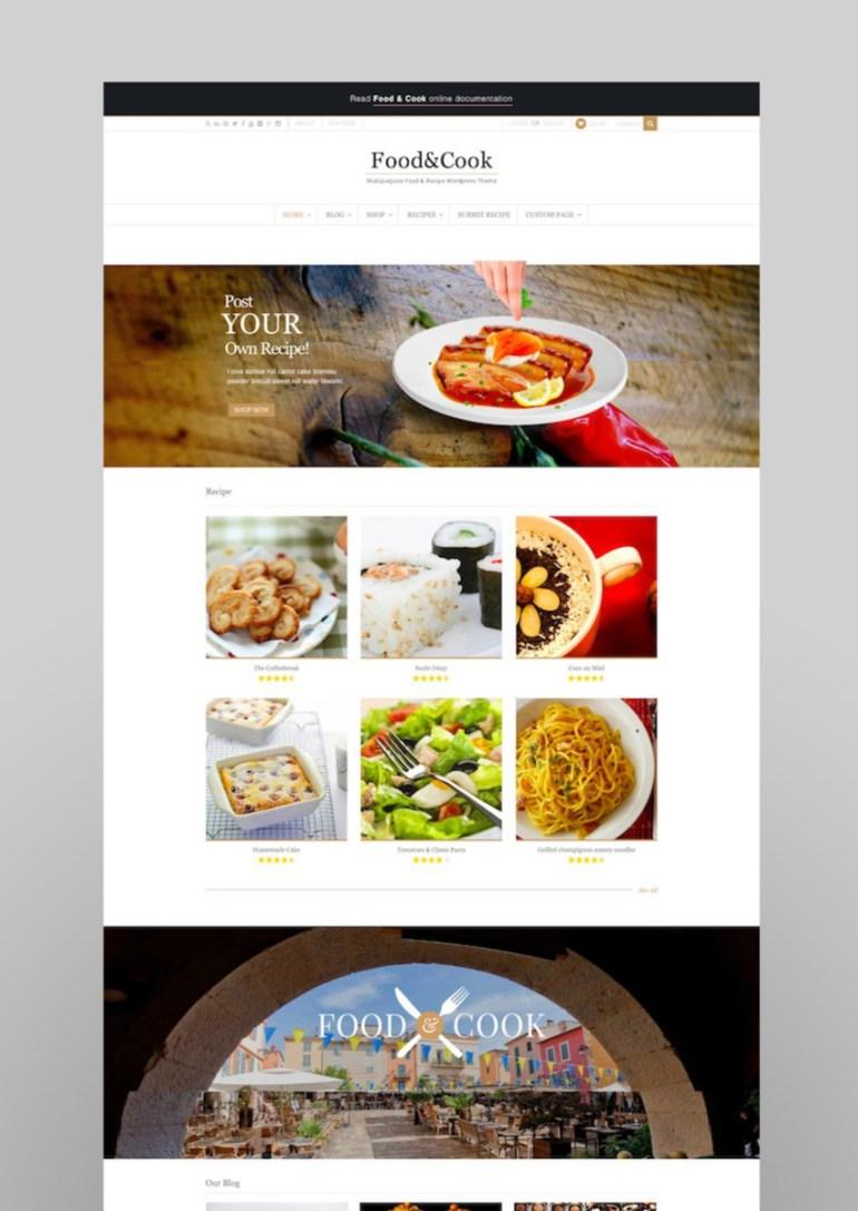 Food  Cook - Multipurpose Food Recipe WP Theme
