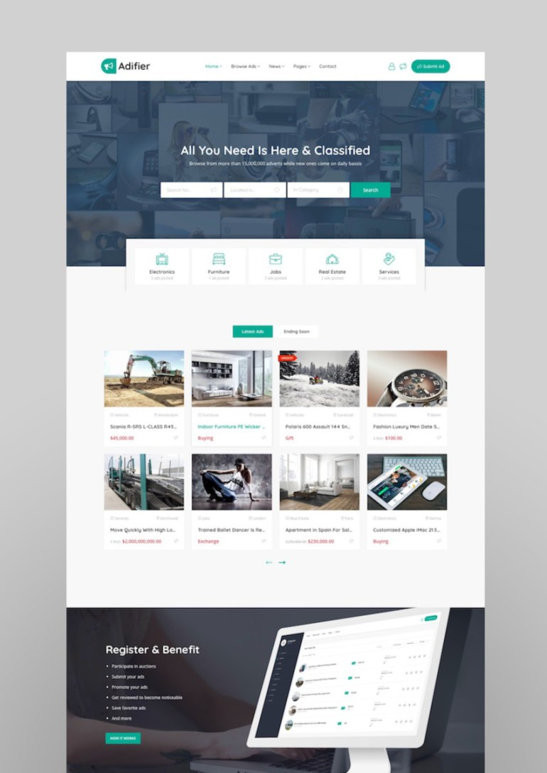 Adifier - Classified Ads WordPress Theme