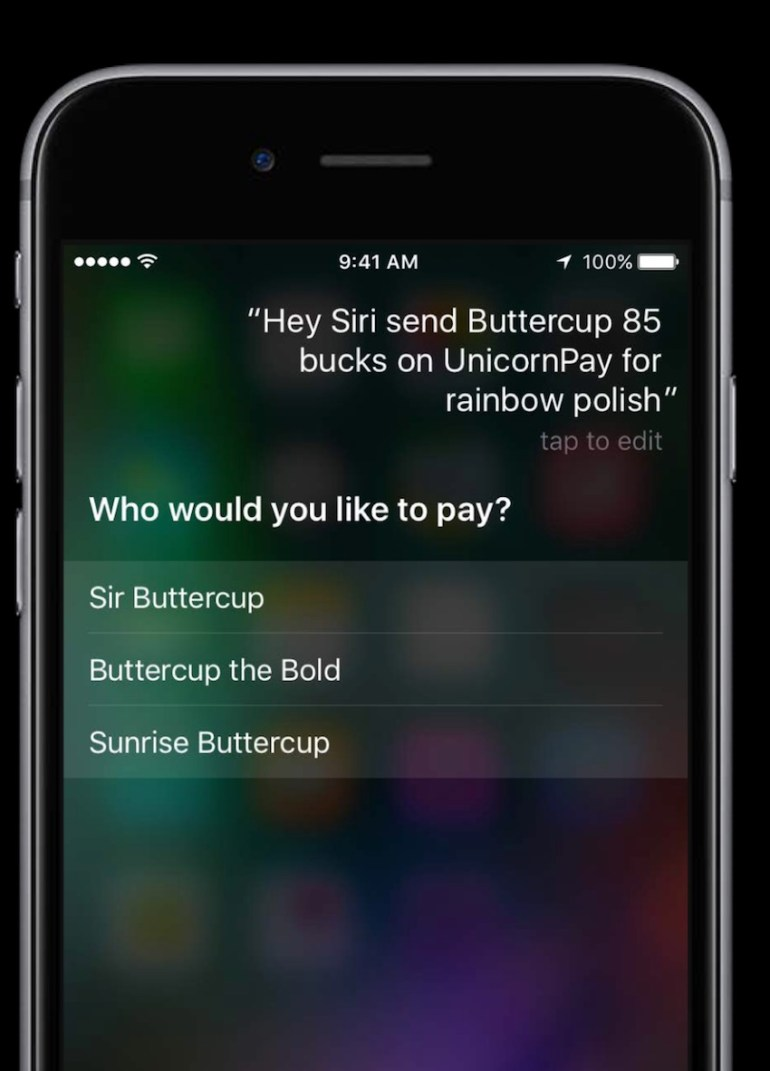 Siri Options in response