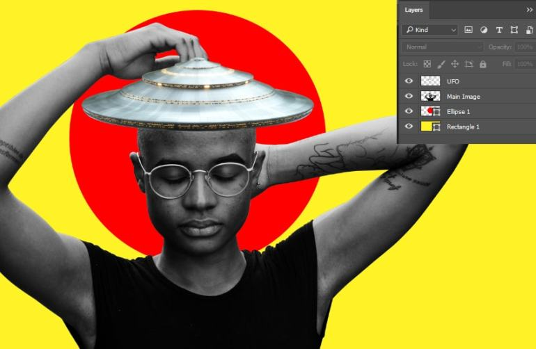 Importing the UFO on the models head