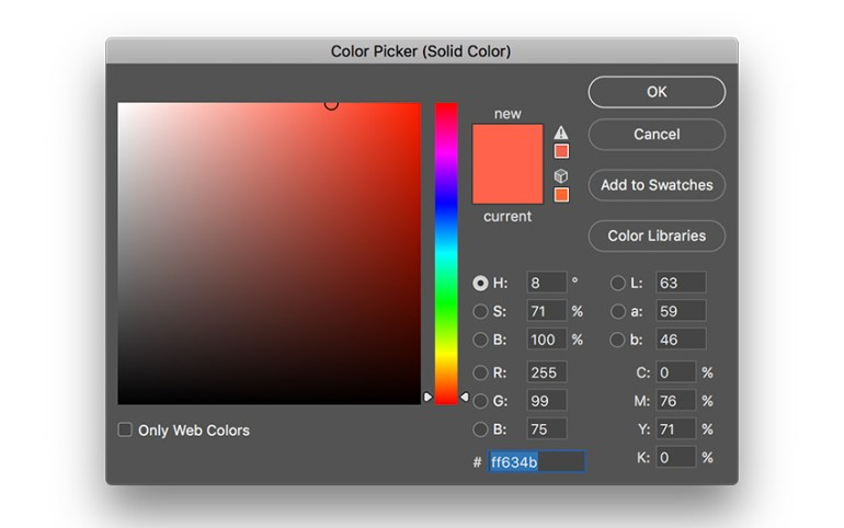 create a solid color layer