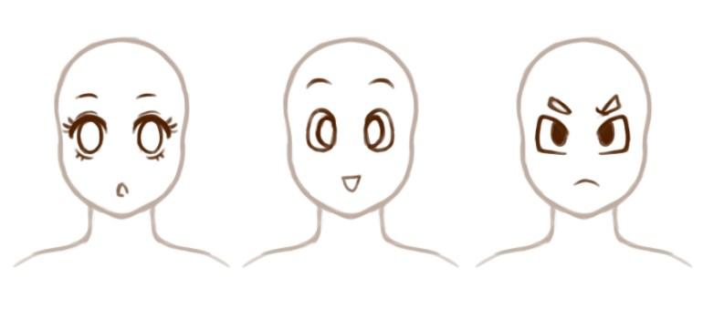 Sample simplified eyes