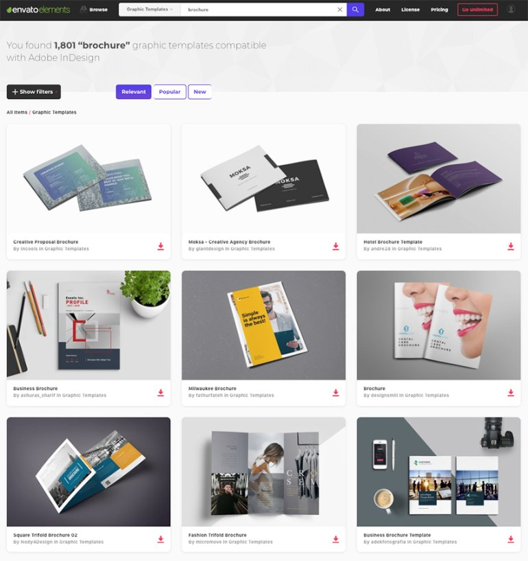 Creative Marketing Brochure Ideas on Envato Elements for 2018