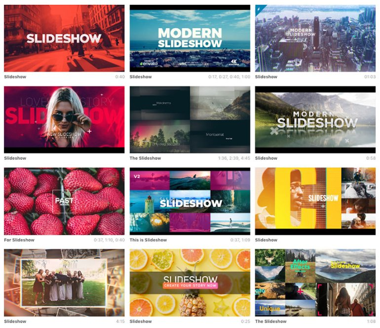 After effects slideshow template available for sale on Envato Market