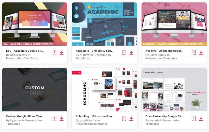 google slides academic poster templates