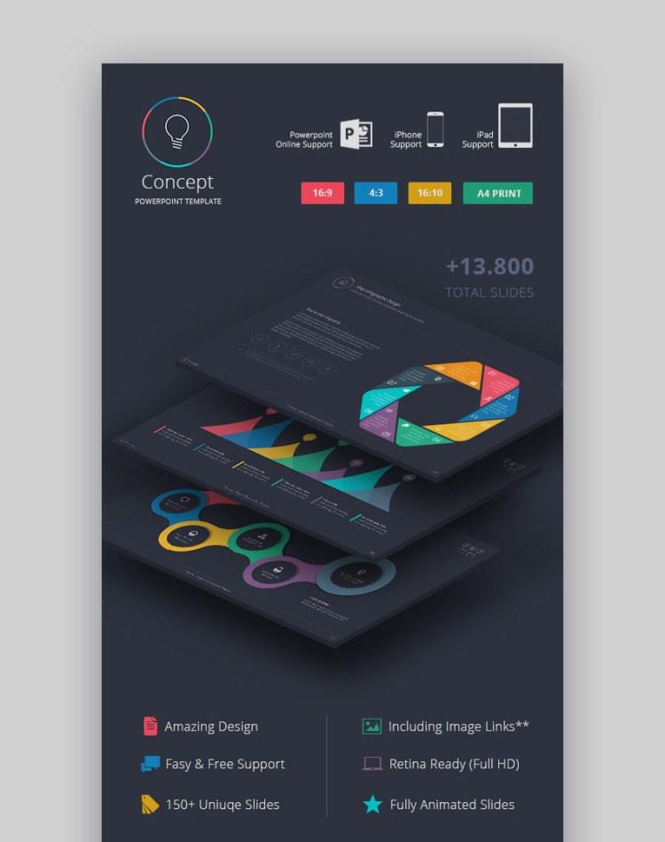 Temi di presentazione di Concept Creative PPT Graphic Slides