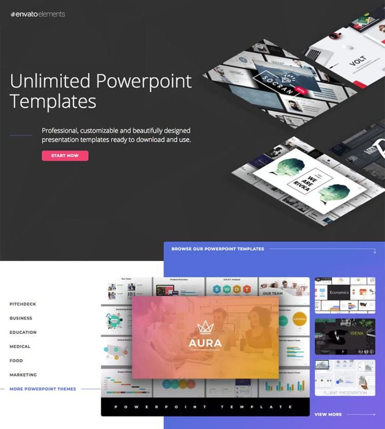 Modelli di presentazione di PowerPoint infografica Envato Elements