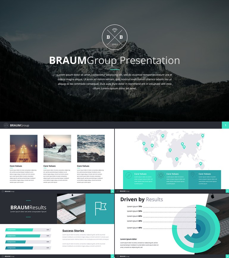 Google Slides Business Presentation Theme