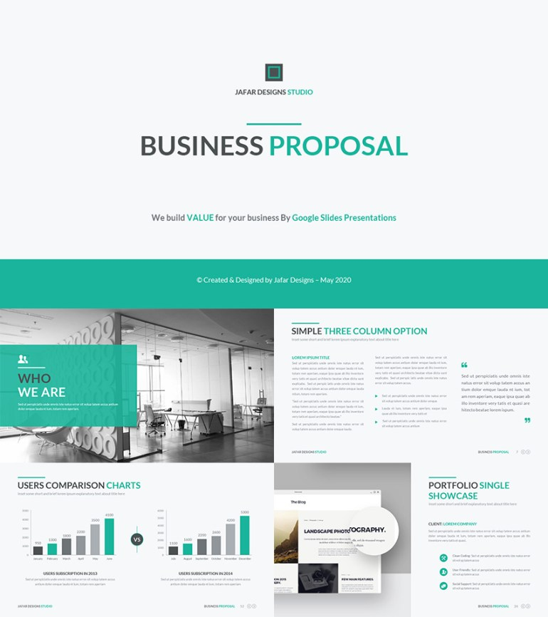 Business Proposal 2016 Google Slides Template Design