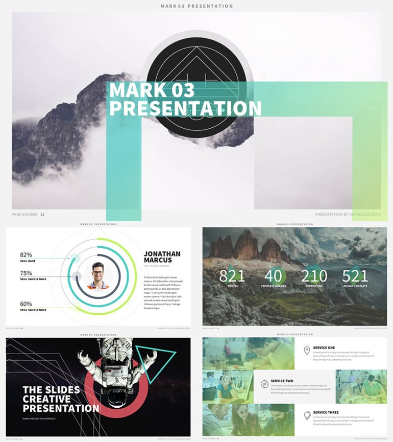 Mark03 - Best Keynote Template Design 2016