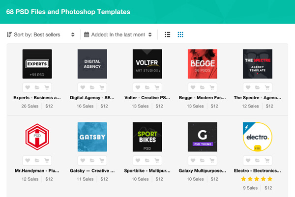 Best New PSD Template Files - Websites
