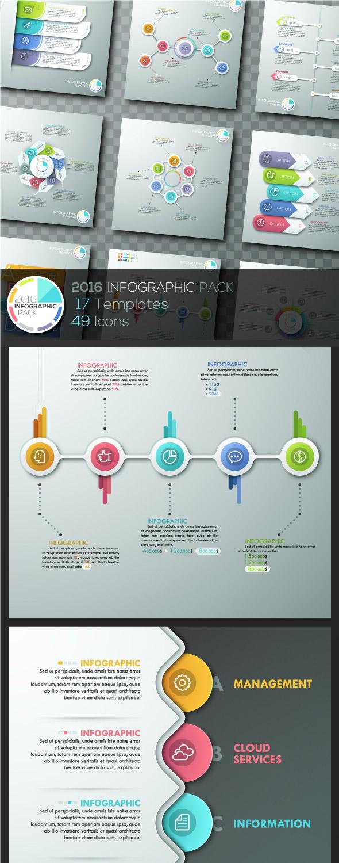 Pacchetto modello infografica 2016