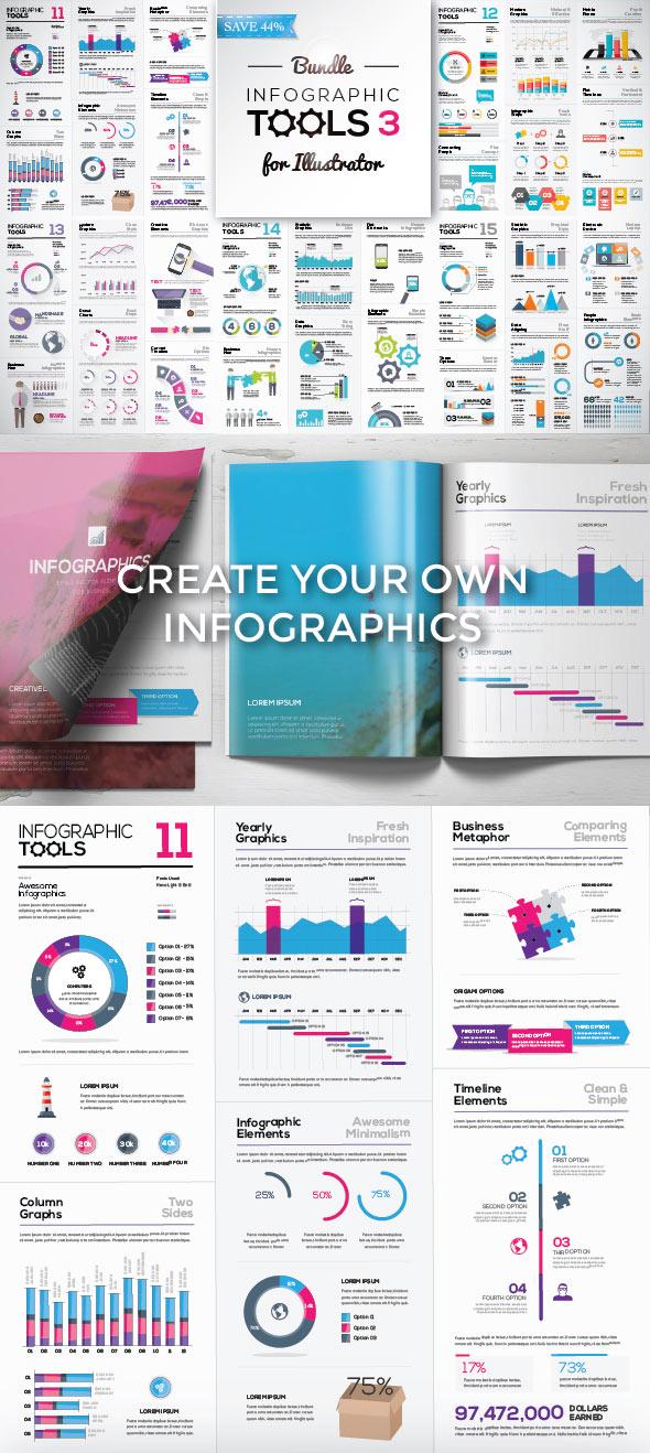 Modello di infografica elementi moderni