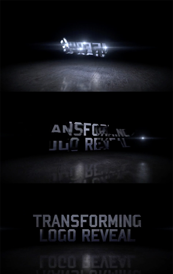 Transforming Motion logo animation reveal