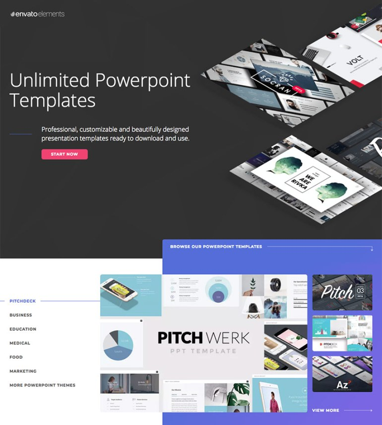 20 best pitch deck templates for business plan powerpoint premium templates on envato elements with unlimited access premium powerpoint toneelgroepblik Choice Image