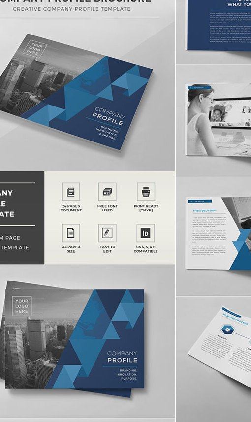Grabs Full Pixels » 20 Best InDesign Brochure Templates   For Creative Business Marketing Company Profile Brochure   INDD Template