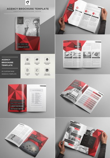20 Best InDesign Brochure Templates   For Creative Business Marketing Creative Agency   InDesign Brochure Template