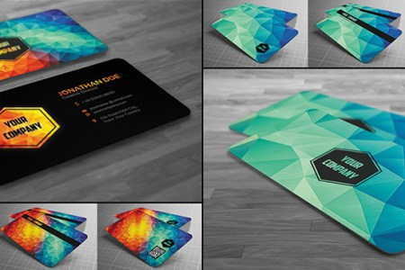 15 Creative Business Card Templates   With Unique Designs Creative Modern Polygon Business Card