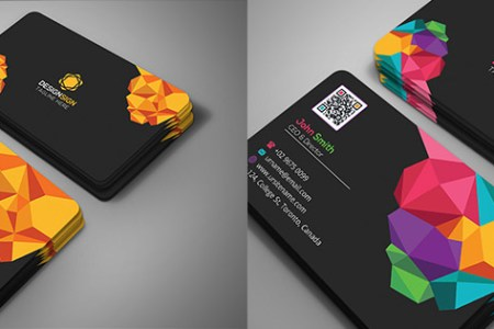 15 Creative Business Card Templates   With Unique Designs Poly Shape Business Card Template Creative Design