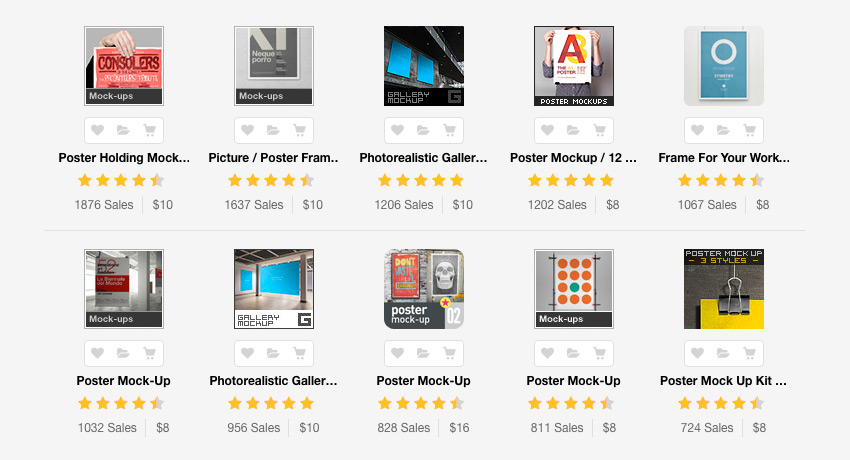 Best Selling Photoshop Poster Mockups