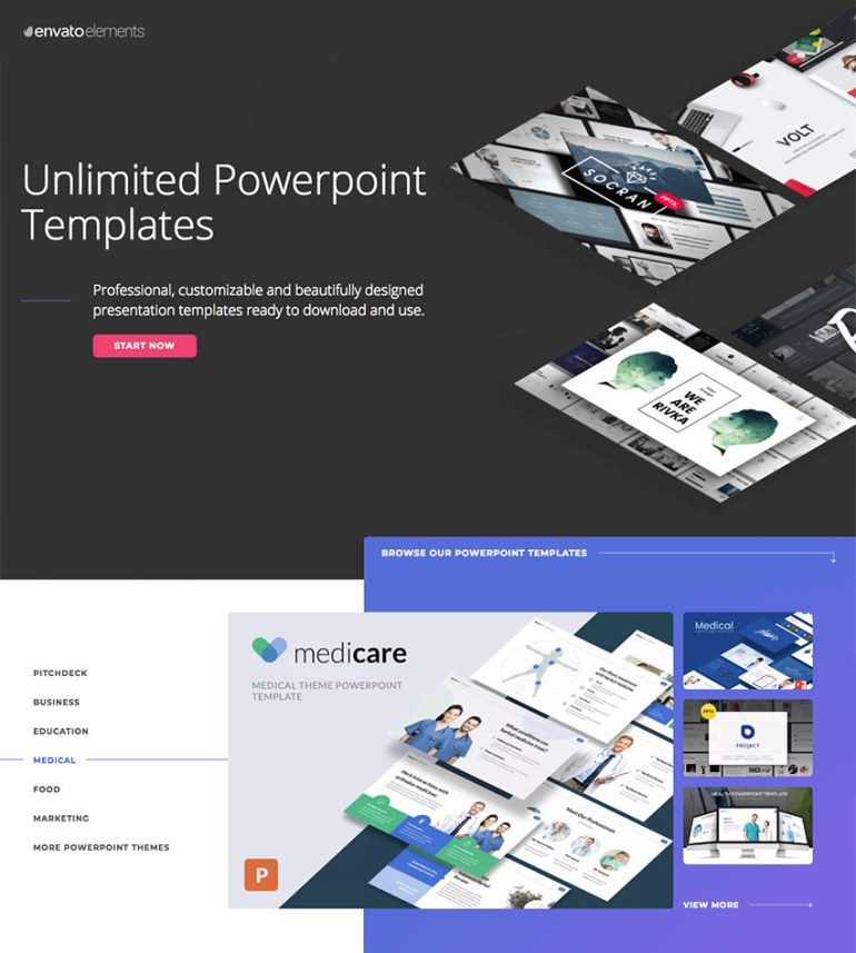 Medical PowerPoint presentation templates on Envato Elements