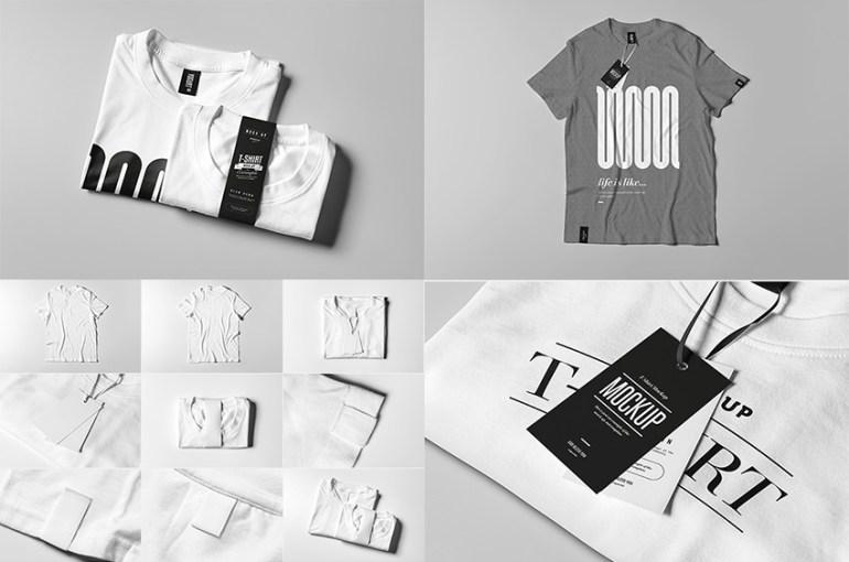 T-Shirt Mock-up 2 PSD Template Set