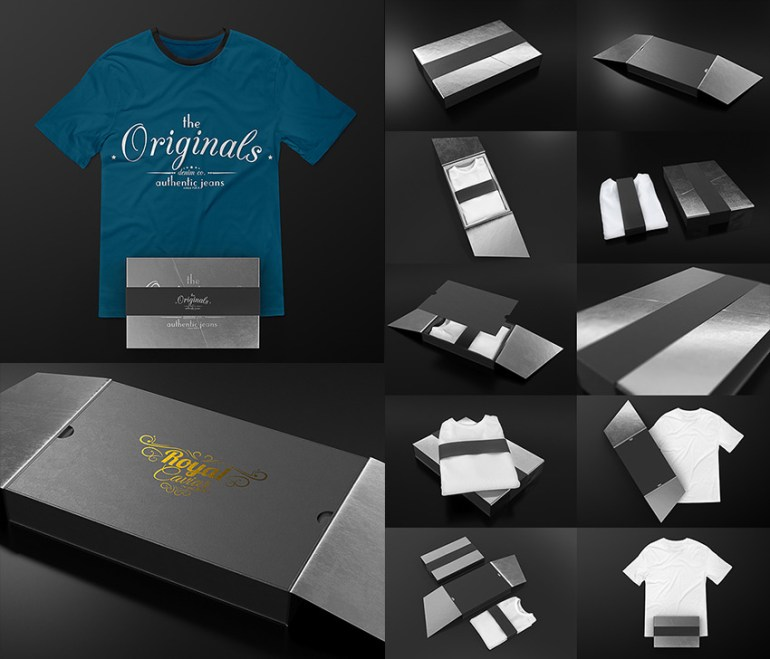 T-Shirt PSD Collection Black Edition Mock up