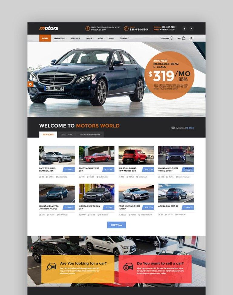 Motors - Directory WordPress Listings Website Template