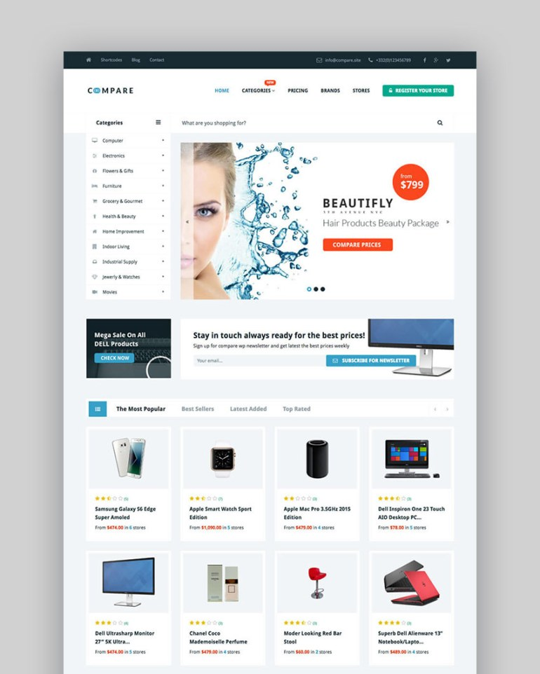 Price Compare - WordPress Theme for Business Directory Websites