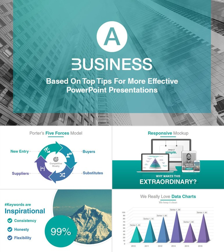 A Business Professional PPT Presentation Template