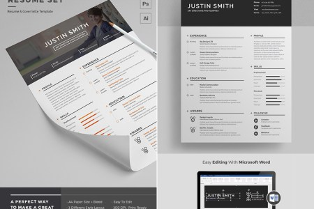 20  Professional MS Word Resume Templates With Simple Designs Clean Simple Modern Resume Template Word