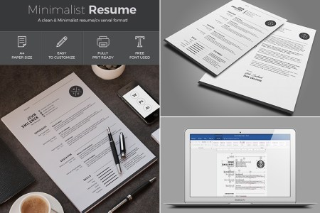 20  Professional MS Word Resume Templates With Simple Designs Simple Resume Template MS Word Design