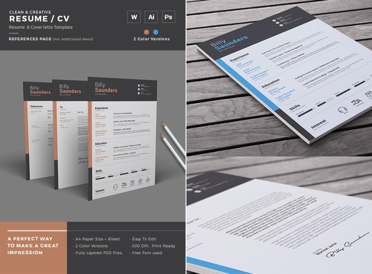 20  Professional MS Word Resume Templates With Simple Designs Simple Creative Resume Microsoft Word Template