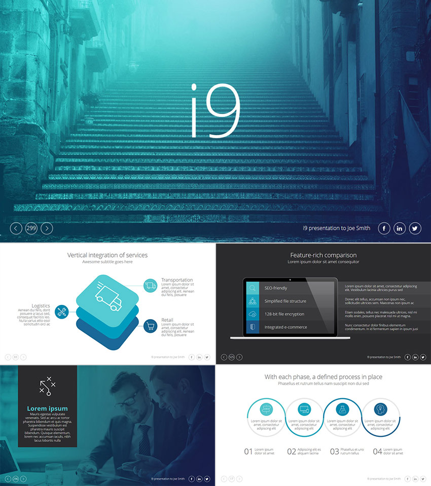 25  Awesome PowerPoint Templates With Cool PPT Designs i9 Cool PPT Presentation Template Design
