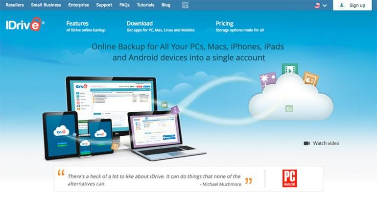 idrive small business data backup onilne software