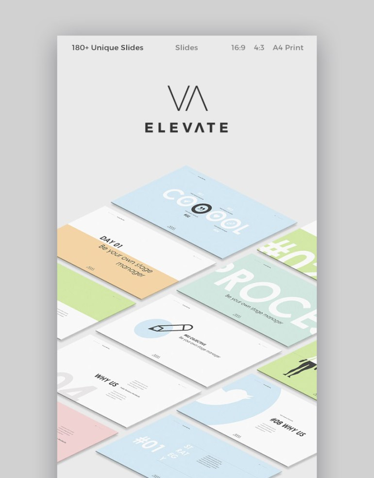 Elevate Slides Cool Presentation Theme for Google Slides