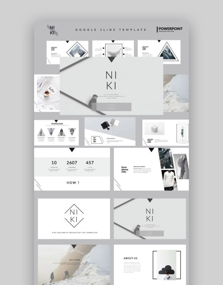 Niki Cool Google Slides Presentation Template Design