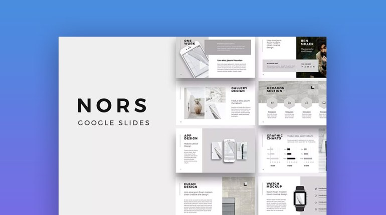 Nors Cool Modern Google Slides Theme Design