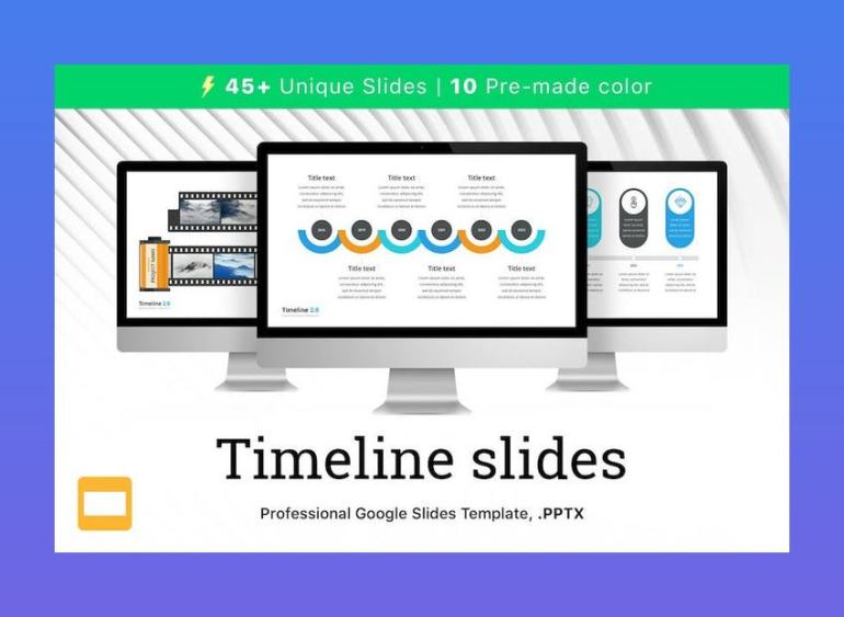 Timeline 20 for Google Slides