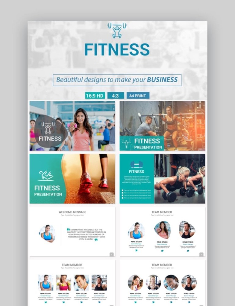 Fitness Sports PowerPoint Template