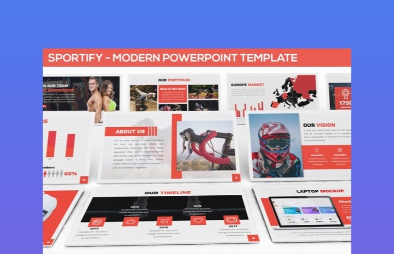 Spority Sports PowerPoint Template
