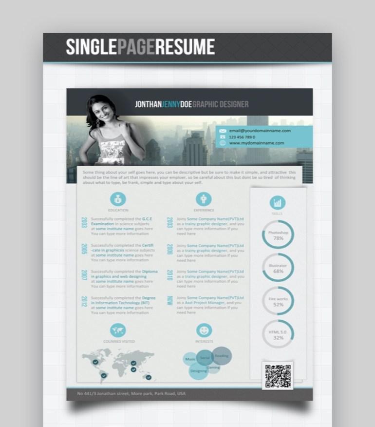 unique clean resume