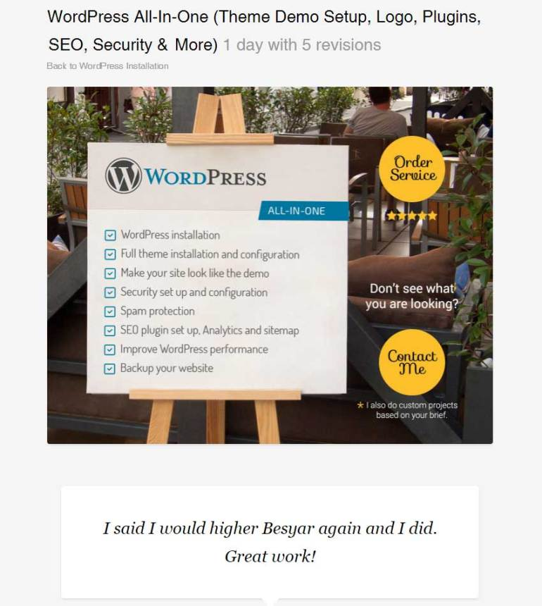 WordPress All-In-One Theme Demo Setup Logo Plugins SEO Security  More by Besyar
