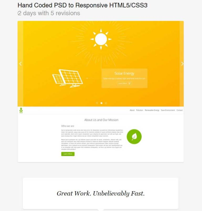 Hand Coded PSD to Responsive HTML5CSS3 by Vaza