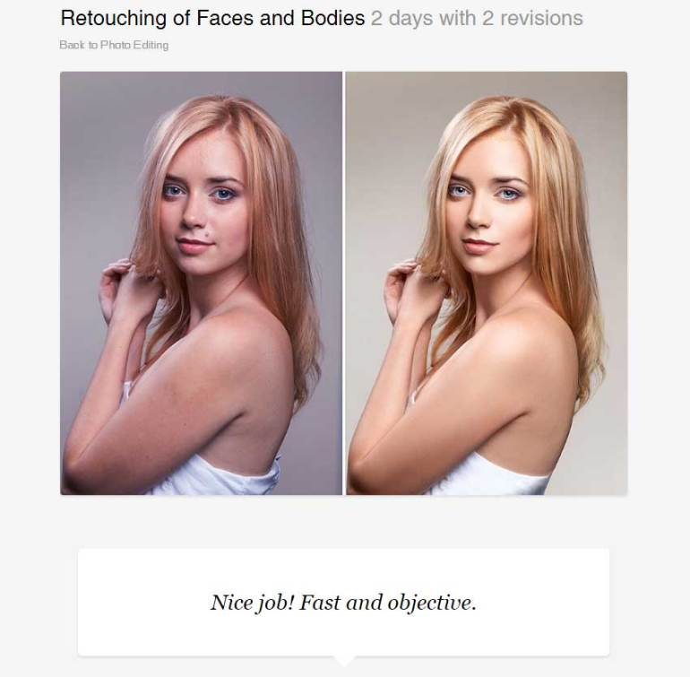 Retouching of Faces and Bodies